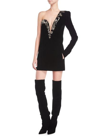One-Shoulder Sweetheart Minidress