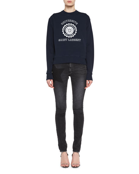 Saint Laurent Shadow-Star Skinny Jeans and Matching Items