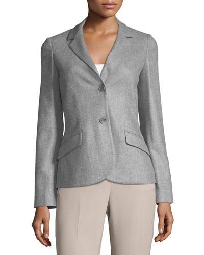 Shannen Cashmere Flannel Jacket