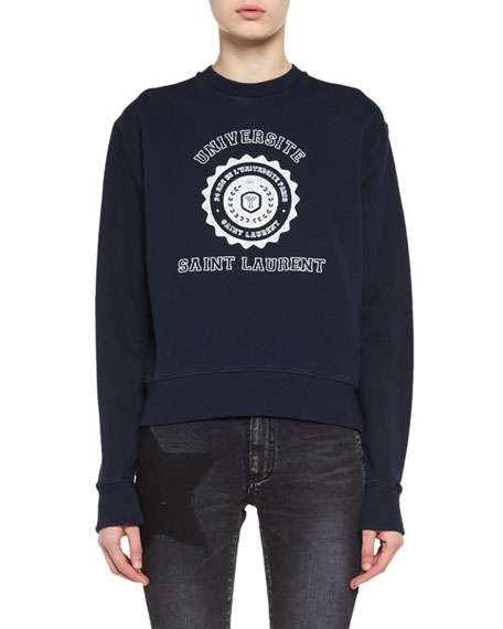 Crewneck University Emblem Sweatshirt