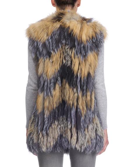 Cross Fox and Silver Fox Fur Vest