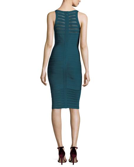 Emily Transparent Picot-Trim Sheath Dress