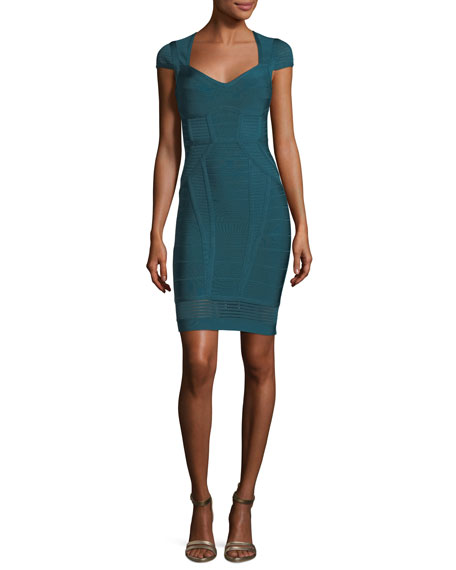 Herve Leger Crochet-Trim Bandage Cocktail Minidress