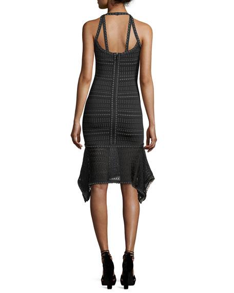 Sleeveless Weave-Pattern Dress