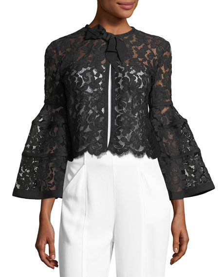 Lace Bell-Sleeve Capelet