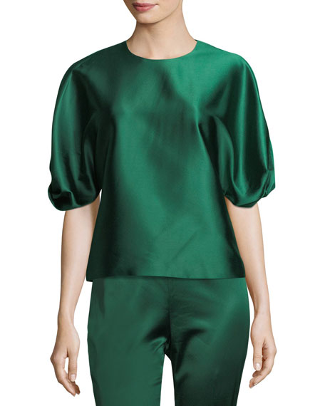 Rosetta Getty Satin Straight-Leg Trousers and Matching Items
