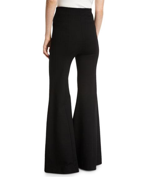 Jersey Flare-Leg Trousers