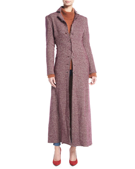 Brock Collection Carolyn Tweed Duster Coat