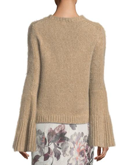 Kaelie Cashmere Bell-Sleeve Sweater