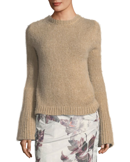 Brock Collection Kaelie Cashmere Bell-Sleeve Sweater