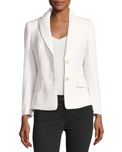 Grain de Poudre Two-Button Peplum Blazer