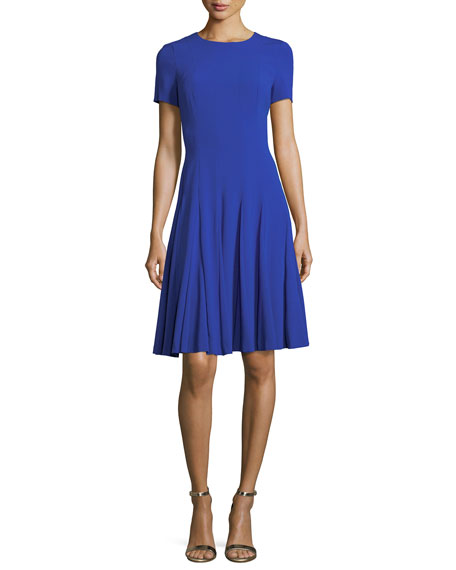 Escada Short-Sleeve Fit & Flare Dress