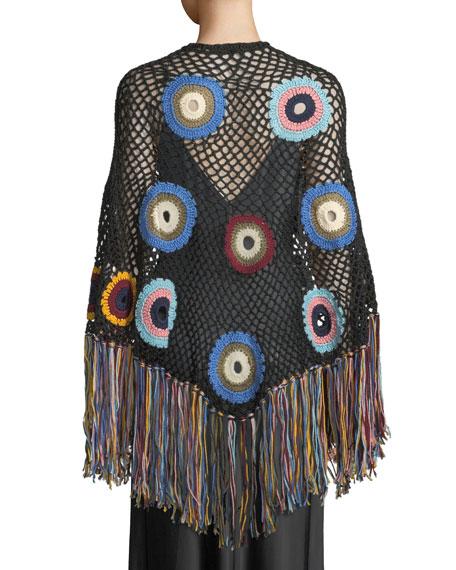 Hand-Crochet Fringe Poncho