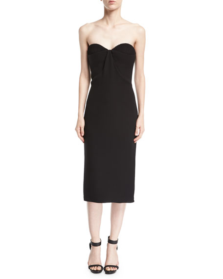 Brandon Maxwell Halter Bustier Cocktail Sheath Dress