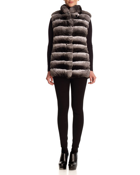 Chinchilla Fur & Silk Two-Piece Down Jacket