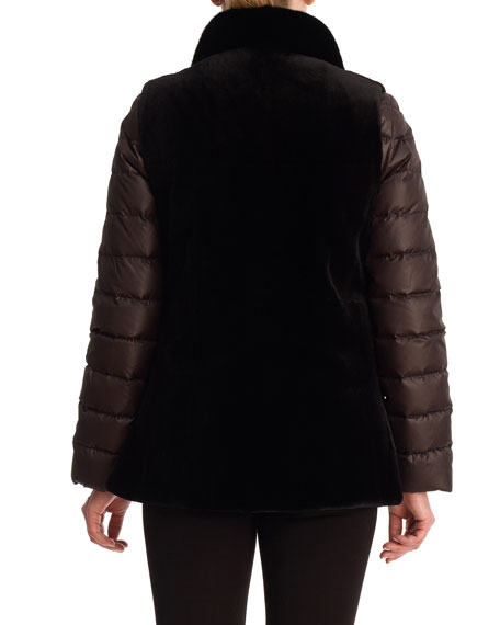 Reversible Mink Vest and Quilted Down Jacket
