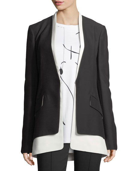 Derek Lam JKT BICOLORED COLLARLESS TAI