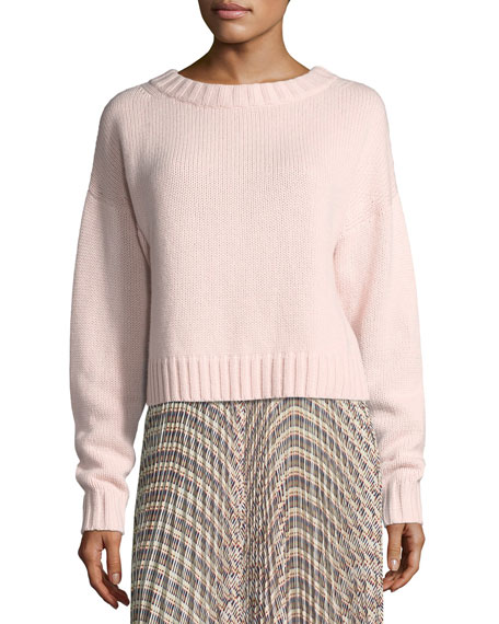 Cropped Cotton-Cashmere Sweater