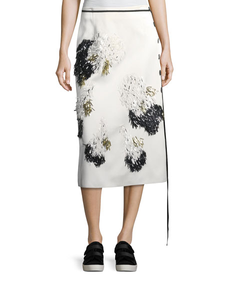 Derek Lam Embroidered Vine-Print Tee and Matching Items