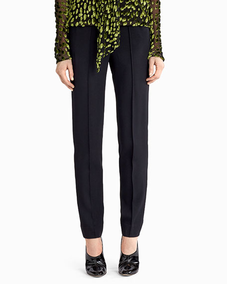 Jason Wu Stretch-Crepe Straight-Leg Pants