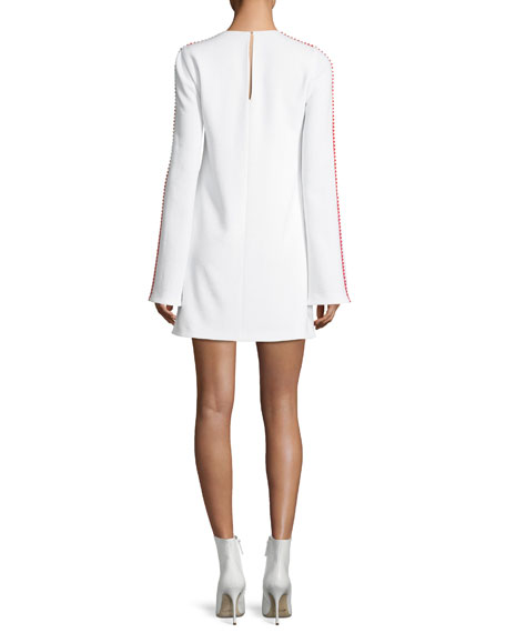 Misti Pompom-Trim Shift Dress