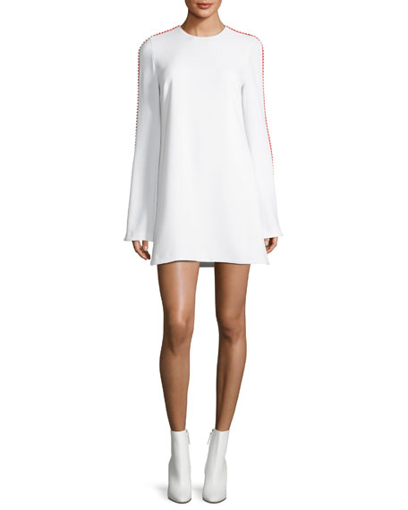 Galvan Misti Pompom-Trim Shift Dress