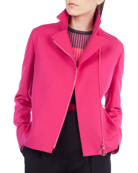 Wool-Blend Moto Jacket