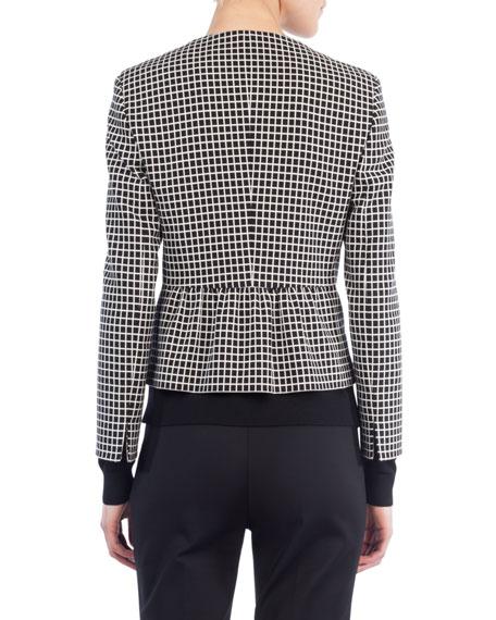 Zip-Front Grid Jacket