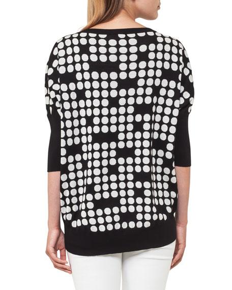 Punto Dot Jacquard Wool Sweater