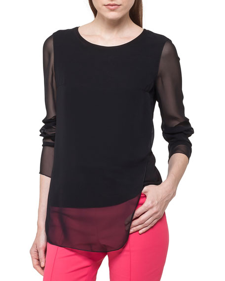 Top with Transparent Layering