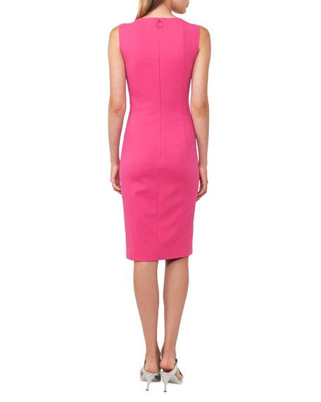 3D Cutout Sleeveless Sheath Dress