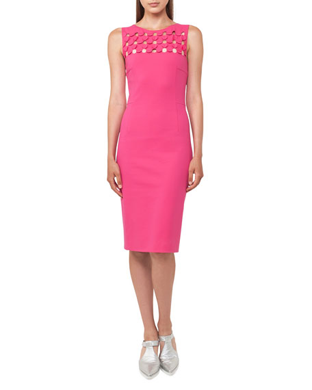 Akris punto 3D Cutout Sleeveless Sheath Dress