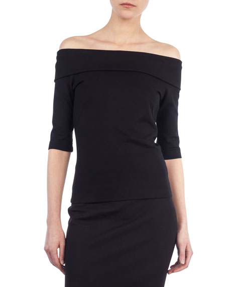 Akris punto Carmen Off-the-Shoulder Jersey Top and Matching