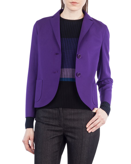 Akris punto Jersey Two-Button Blazer