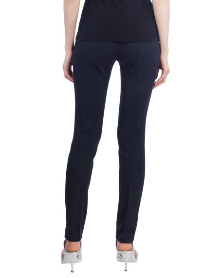 Mara Waffle-Knit Fitted Full-Length Leggings