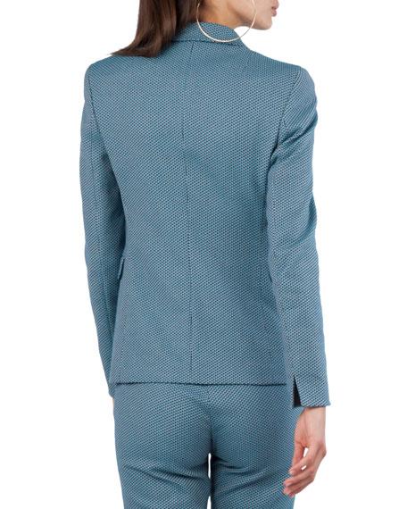 Two-Button Cotton-Stretch Jacquard Blazer