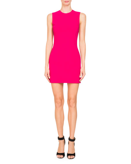 Sleeveless Cady-Stretch Fitted Cocktail Dress