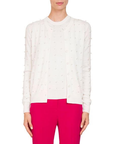 Givenchy Button-Front Embellished Wool-Cashmere Cardigan