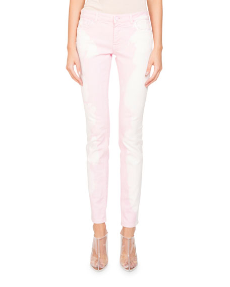 Givenchy Bleached-Denim Skinny-Leg Five-Pocket Jeans and Matching