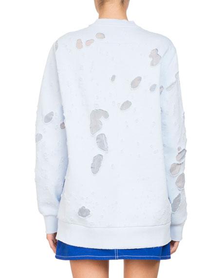 Destroyed Logo Pullover Sweatshirt