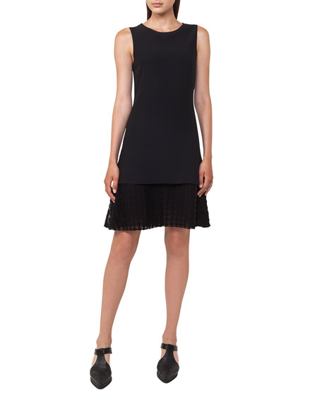 Akris punto Sleeveless Lace-Hem Dress