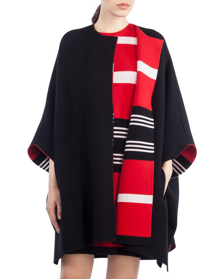 Akris Reversible Knit Cashmere Cape