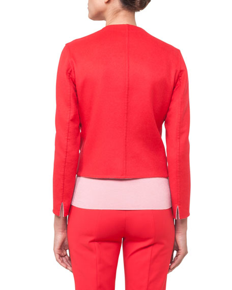 Nashville Snap-Front Short Reversible Cashmere Jacket