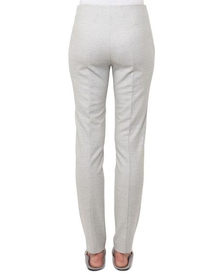 Melissa Straight-Leg Wool Flannel Pants