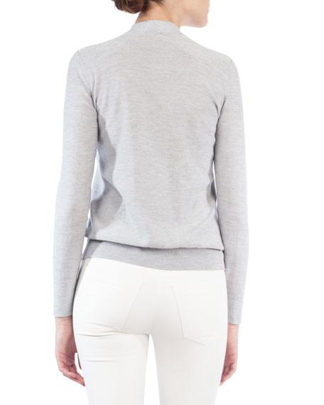 Mock-Neck Cashmere-Blend Sweater