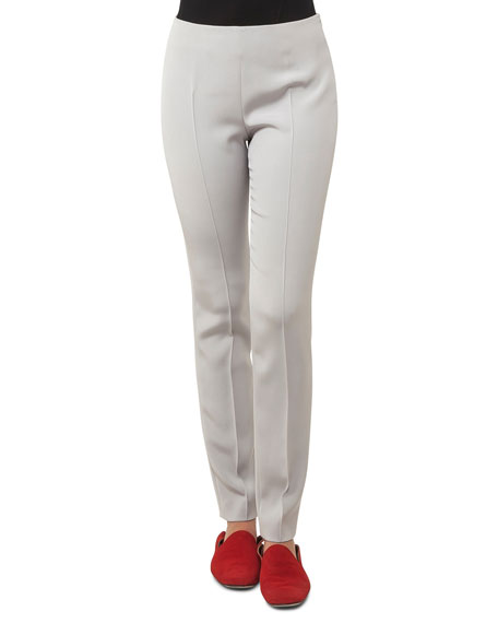 Akris Melissa Slim-Leg Silk Crepe Pants and Matching