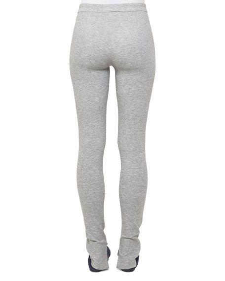Fria Stretch-Jersey Heathered Leggings