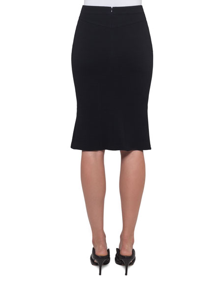 A-Line Wool-Stretch Skirt