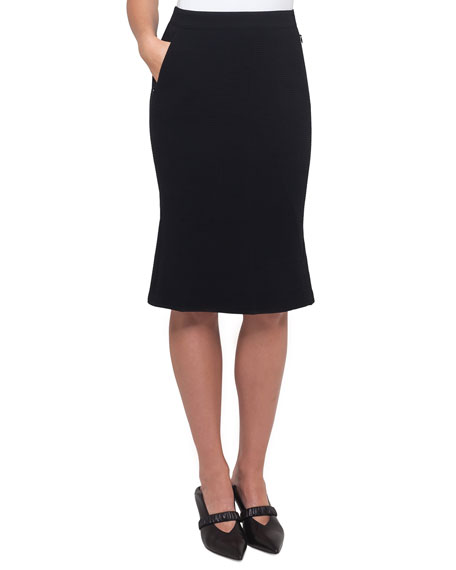 skirt wool stretch double fa