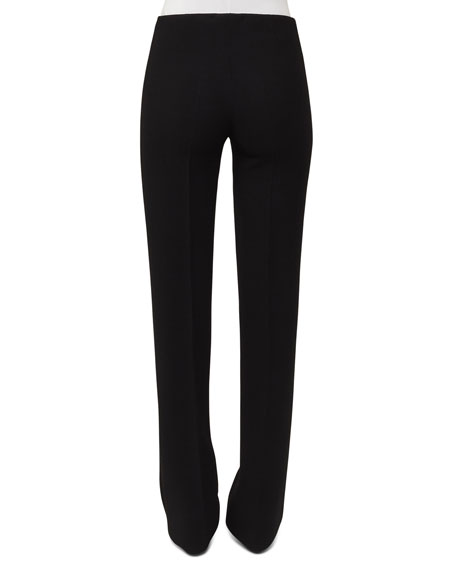 Carol Straight-Leg Wool Crepe Pants